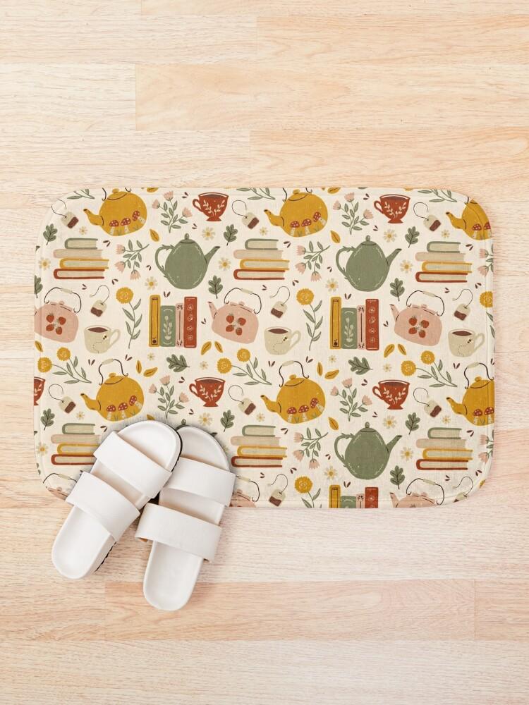 Alternate view of Flowery Books and Tea Bath Mat
