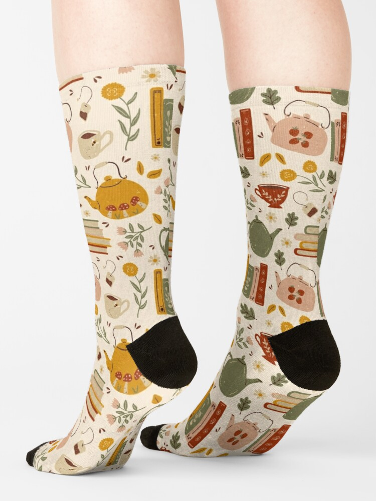 Alternate view of Flowery Books and Tea Socks