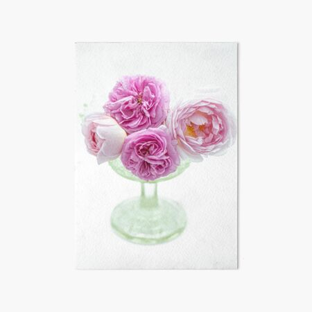 A Bouquet Of English Roses From My Rose Garden #3 Art Board Print