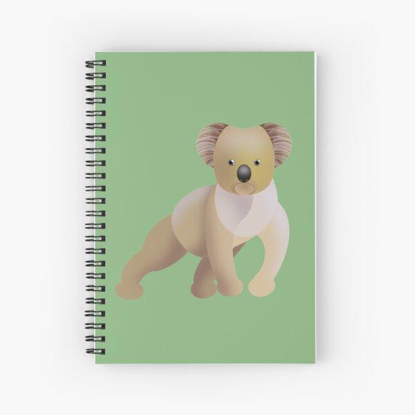 Koala with Green Background Spiral Notebook