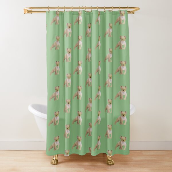 Koala with Green Background Shower Curtain