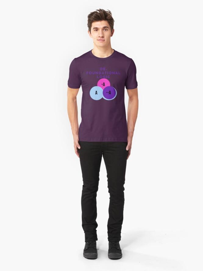 Alternate view of DE-FOUNDATIONAL LOGIC Slim Fit T-Shirt
