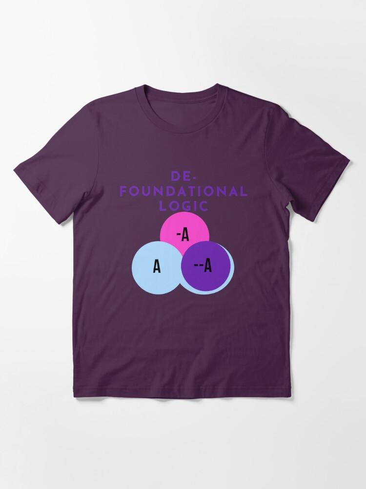 Alternate view of DE-FOUNDATIONAL LOGIC Essential T-Shirt
