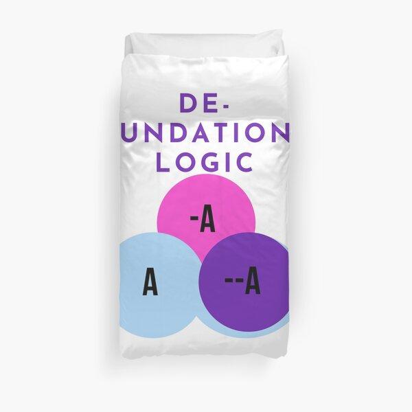 DE-FOUNDATIONAL LOGIC Duvet Cover