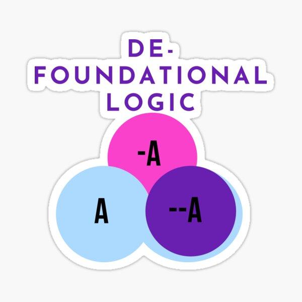 DE-FOUNDATIONAL LOGIC Sticker