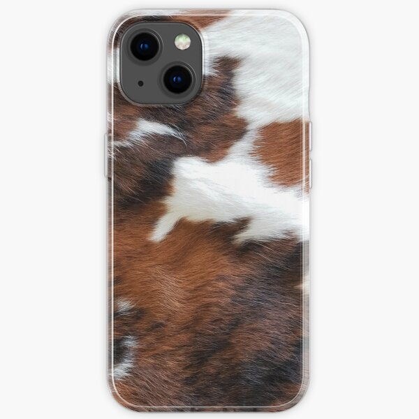 Cowhide Rodeo Western Country Living iPhone Soft Case