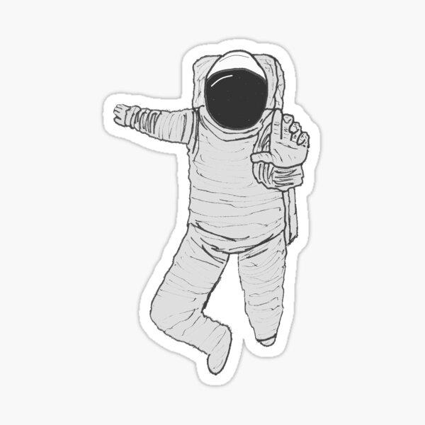 Astronaut Drifting Sticker
