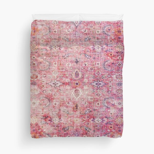 Antique Traditional Pink Oriental Moroccan Style  Duvet Cover