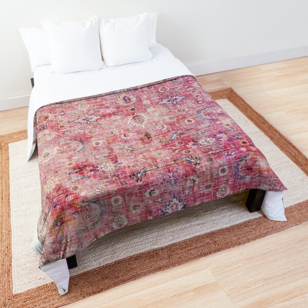 Antique Traditional Pink Oriental Moroccan Style  Comforter