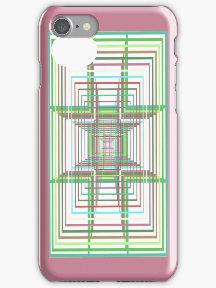 Square Maze iPhone Case by simpsonvisuals