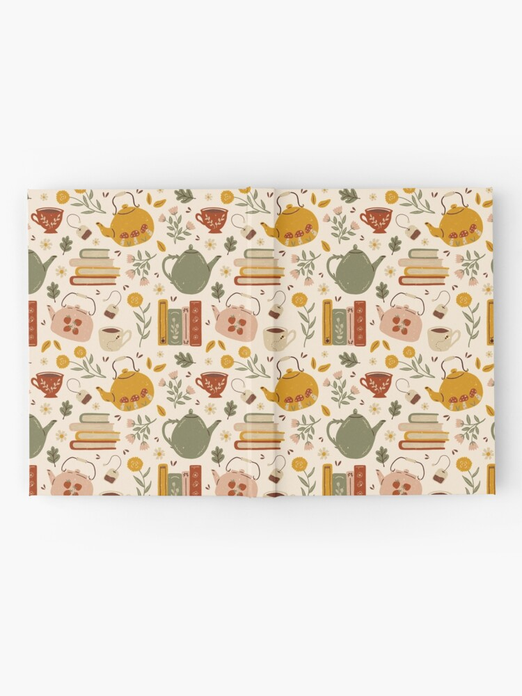 Alternate view of Flowery Books and Tea Hardcover Journal