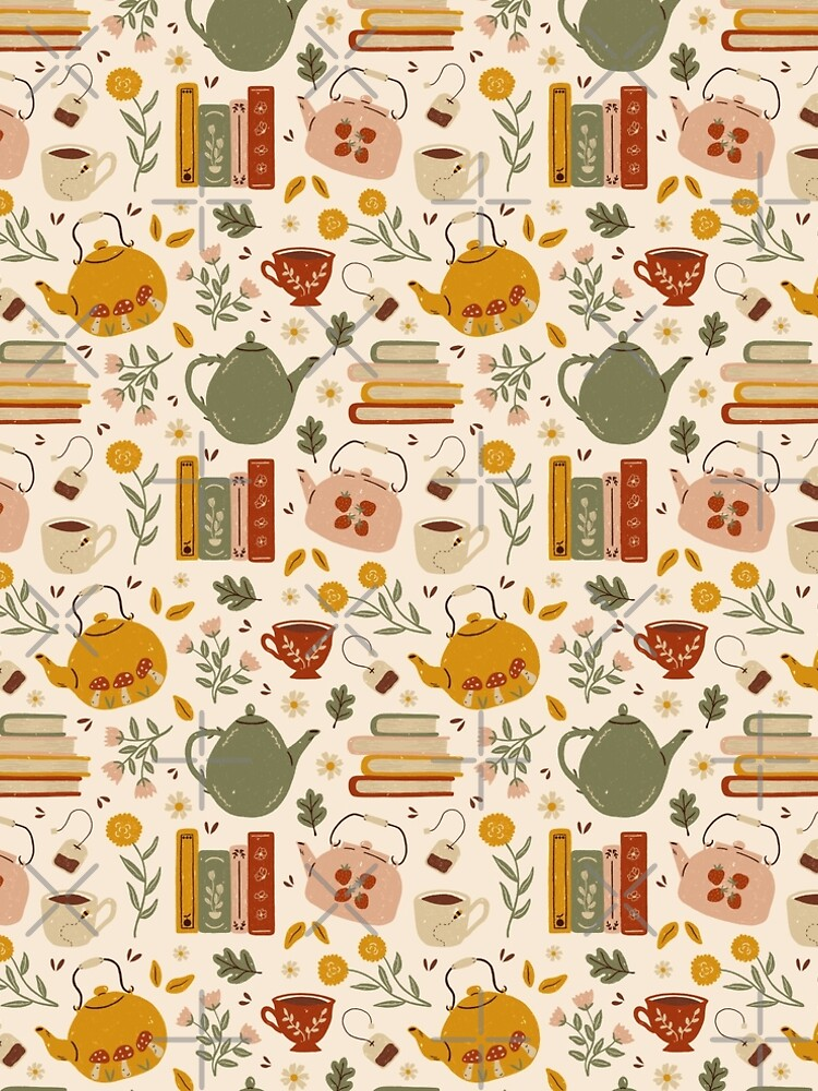 Flowery Books and Tea by ohjessmarie