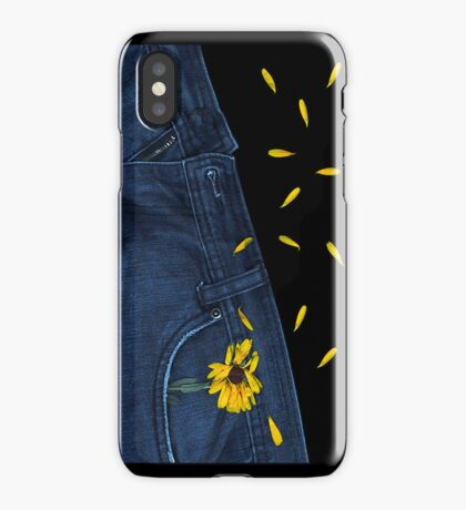 """Blue Jeans and Calendula"" - phone iPhone Case"