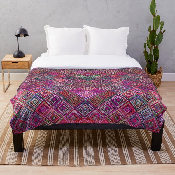 Colored illusions Oriental Traditional Moroccan Style Throw Blanket