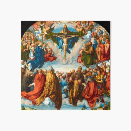 Albrecht Durer - Adoration of the Trinity Art Board Print