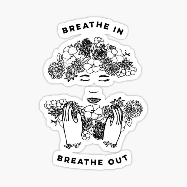 Floral Meditation Sticker