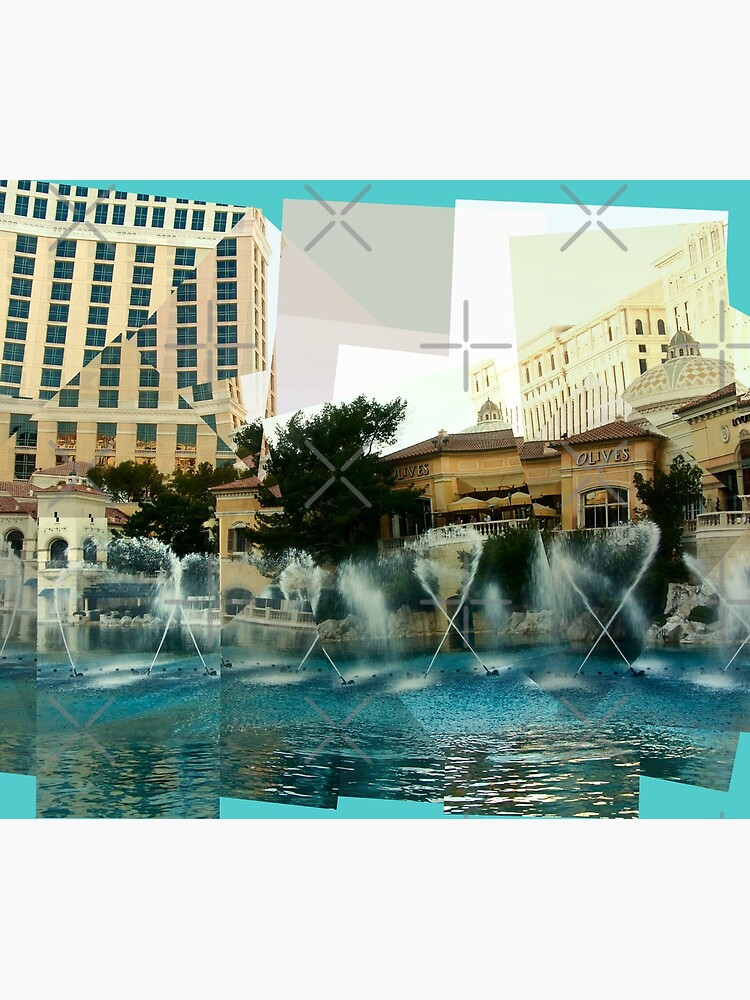Bellagio Fountains Panograph by LindaB