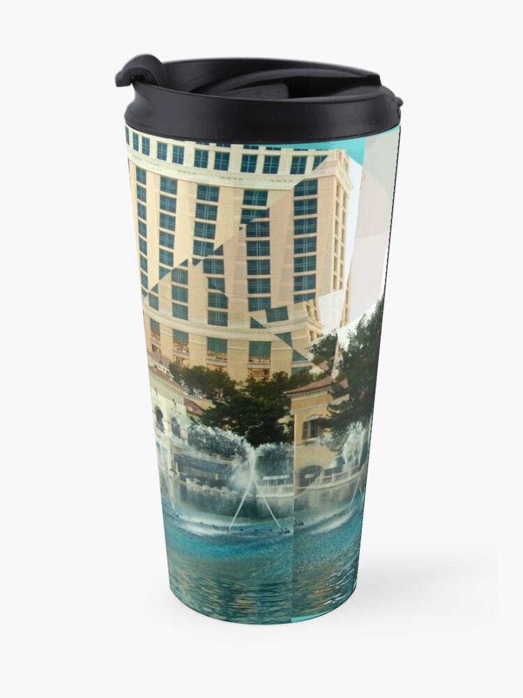 Alternate view of Bellagio Fountains Panograph Travel Mug