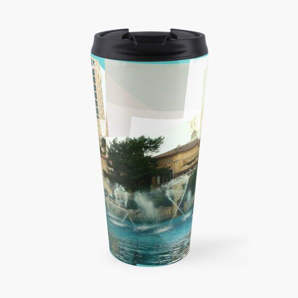 Bellagio Fountains Panograph Travel Mug