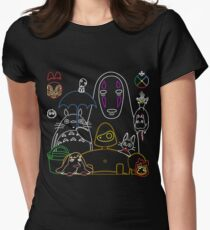 Ghibli mix v2 Women's Fitted T-Shirt