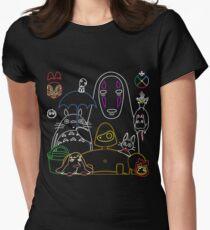Camiseta entallada para mujer Ghibli mix v2