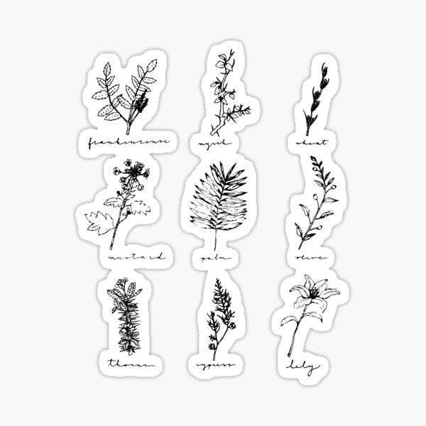 Botanicals of Christ Sticker