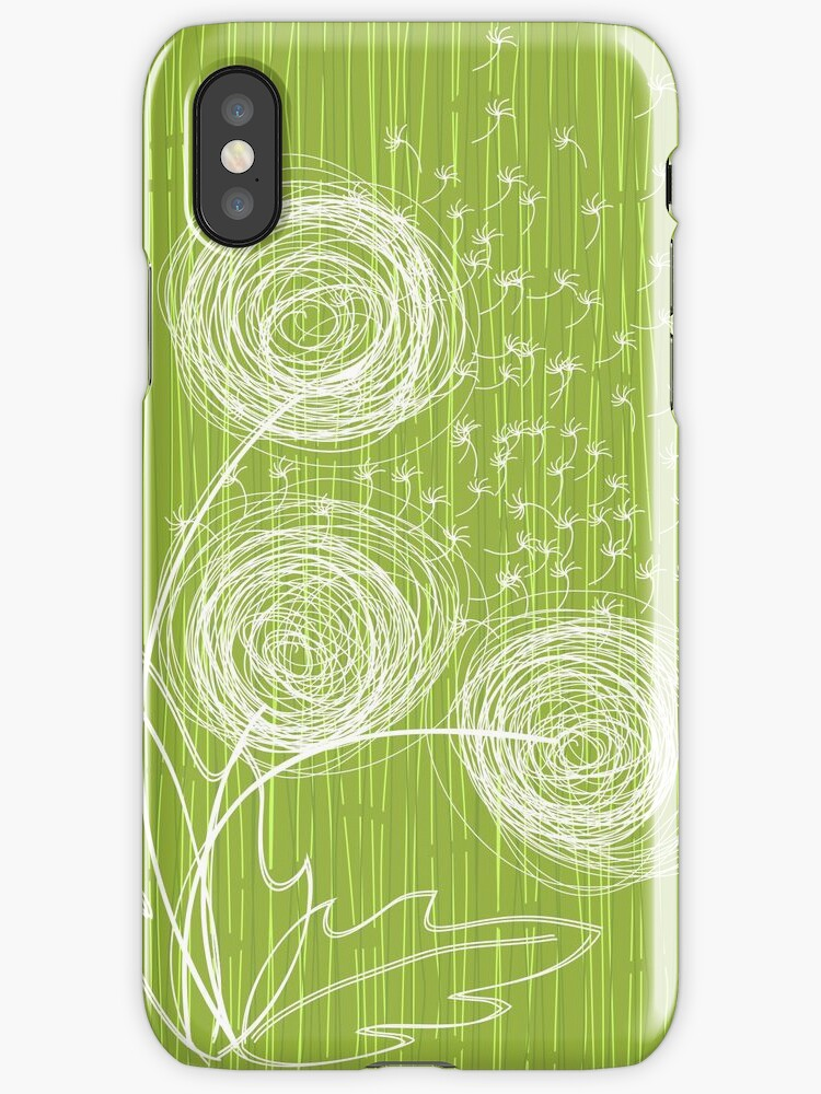 Dandelions iPhone Case by Anastasiia Kucherenko