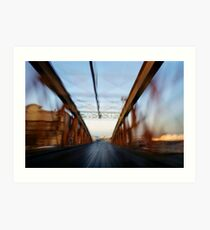 Road bridge (blurred motion) Art Print