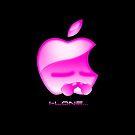 Apple I-Lone Pink by Saing Louis