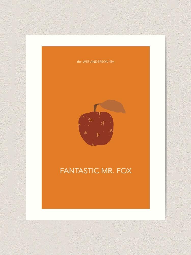 Fantastic Mr Fox Minimalist Movie Poster Art Print By Emskate38 Redbubble