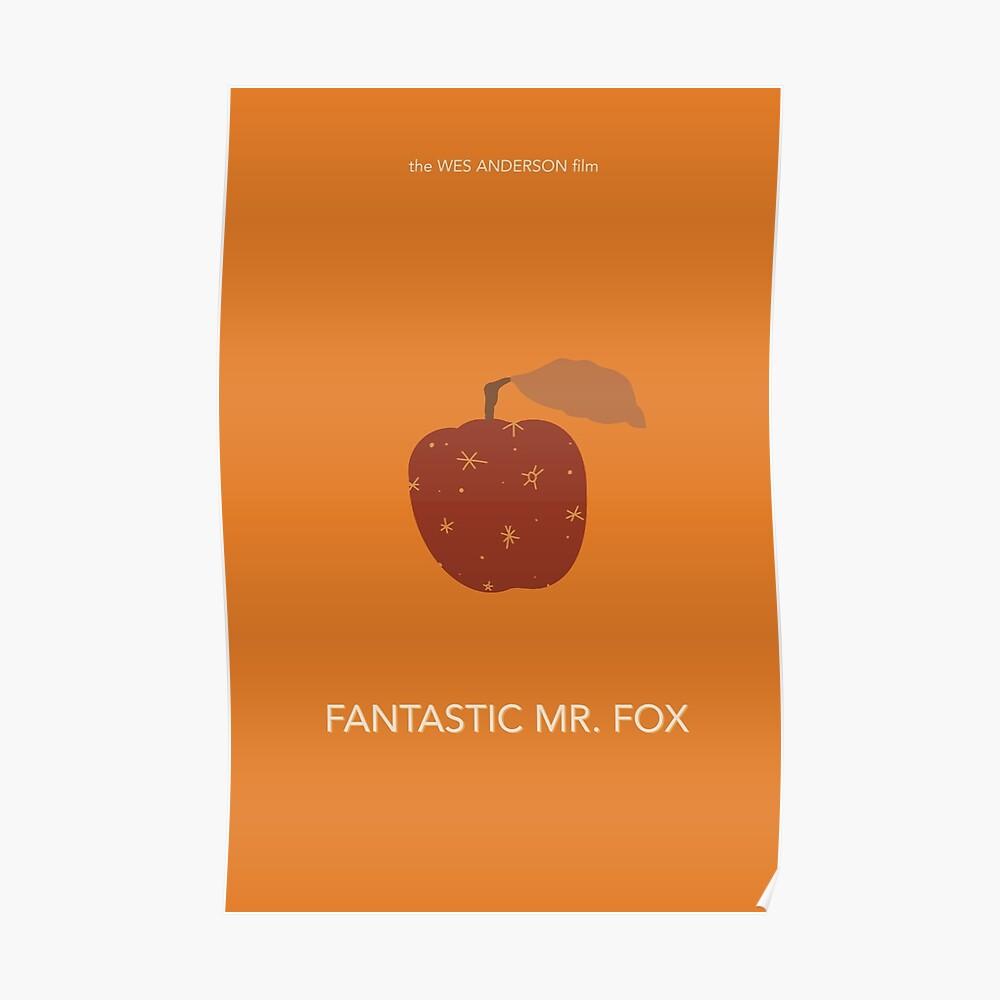 Fantastic Mr Fox Minimalist Movie Poster Sticker By Emskate38 Redbubble