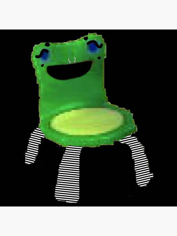 E Girl Froggy Chair Meme Art Board Print By Roachgod Redbubble