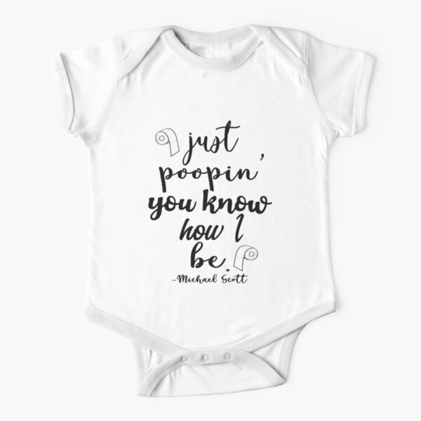 Just Poopin' You Know How I Be Tshirt Short Sleeve Baby One-Piece