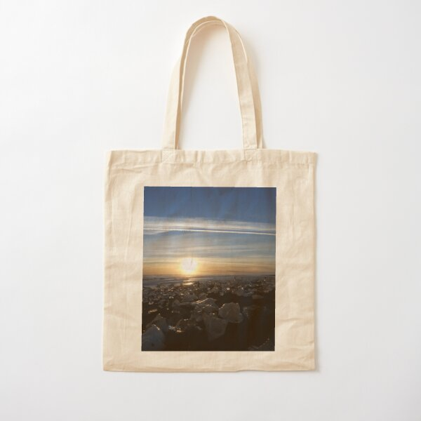 Icy Sunset Cotton Tote Bag