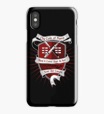 The Harry Code Dark tee (silver)  iPhone Case/Skin