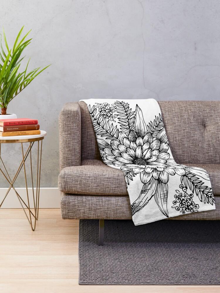 Alternate view of Florals & Ferns Throw Blanket