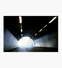 Traffic in road tunnel (blurred motion) Photographic Print