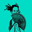 """Geisha Girl"" (aqua) - phone by Michelle Lee Willsmore"