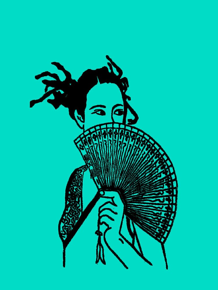 """""""Geisha Girl"""" (aqua) - phone by michellelee"""