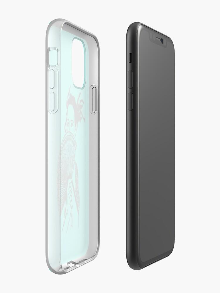 "Alternate view of ""Geisha Girl"" (aqua) - phone iPhone Case & Cover"