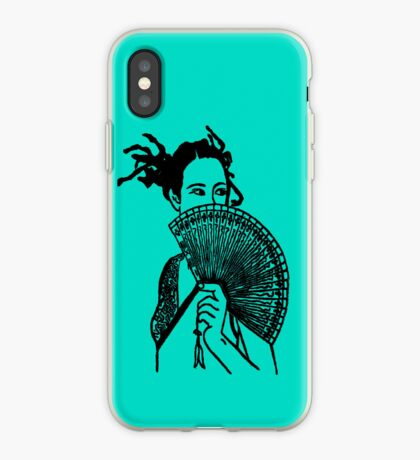 """Geisha Girl"" (aqua) - phone iPhone Case"