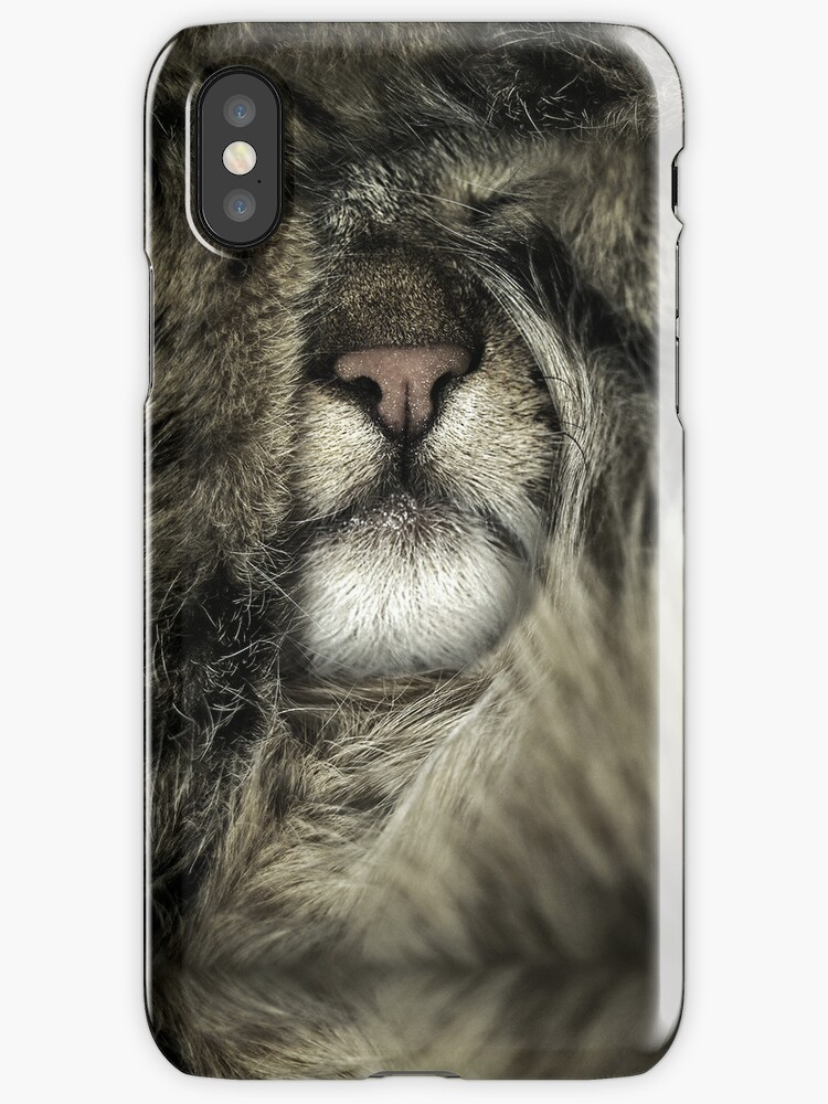 House Tiger I - portrait phone cover case sleeping relaxing tiny by anjafreak