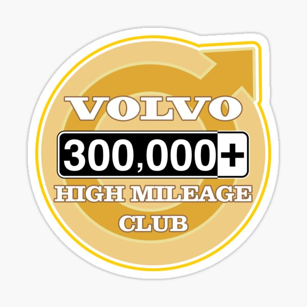 Volvo High Mileage Club - 300,000+ Miles Sticker
