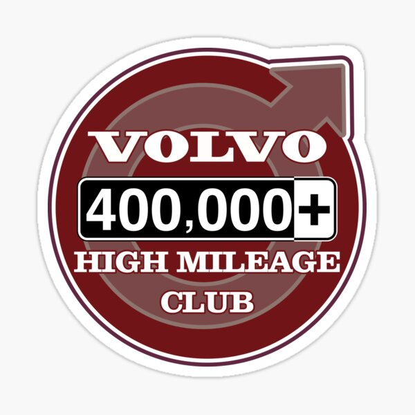 Volvo High Mileage Club - 400,000+ Miles Sticker