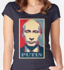 Vladimir Putin, obama poster Women's Fitted Scoop T-Shirt