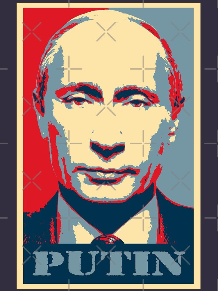 Vladimir Putin, obama poster by hottehue