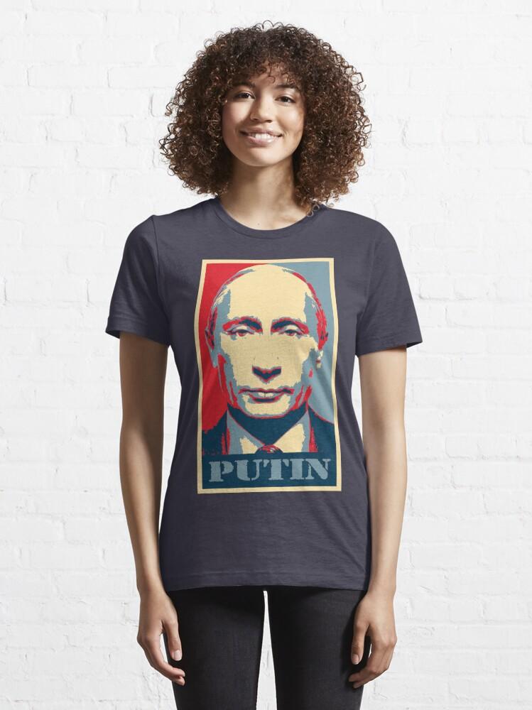 Alternate view of Vladimir Putin, obama poster Essential T-Shirt
