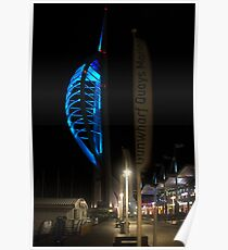 The Spinnaker at Night Poster