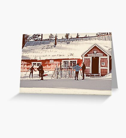 Ski Camp Greeting Card