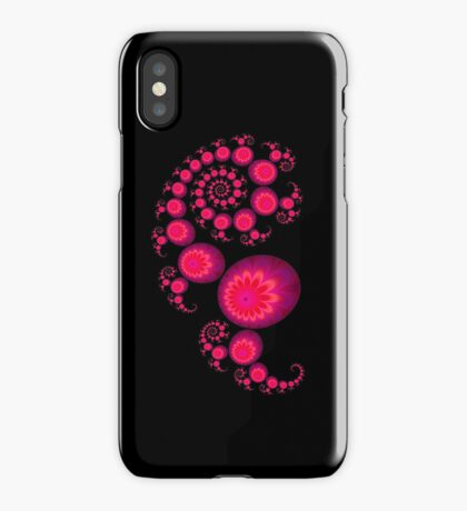 Pretty pink paisley Iphone cover for black Iphone iPhone Case/Skin